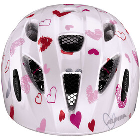 Alpina Ximo Casque Enfant, white hearts